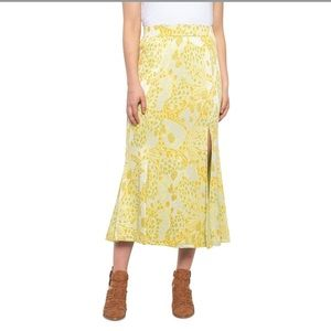 Free People Yellow Combo Margarita Skirt size L